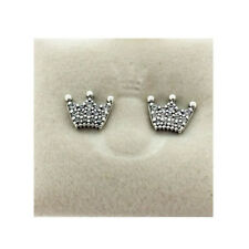 GENUINE PANDORA Enchanted Crowns Stud Earrings 297127CZ FREE DELIVERY