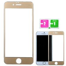 3d Multi Color Tempered Glass Screen Protector Guard for Apple iPhone 6 6s Gold