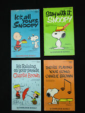 Vtg 1970s PEANUTS CHARLIE BROWN SNOOPY Comic Books Charles Schulz Lot of 4