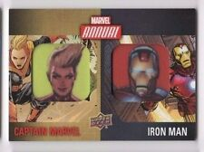 2016 Marvel Annual dual patch card DCP-11 Captain Marvel & Iron Man SHORT PRINT