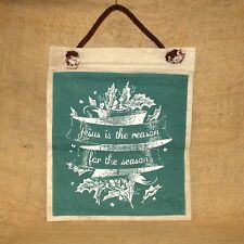 Jesus Is The Reason For The Season Canvas Christmas Hanging Primitives by Kathy