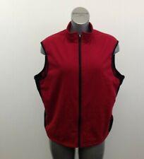 Hot Chilly's Full Zip Vest Women's XL Red Sleeveless Polyester Mock Neck