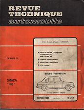 RTA revue technique automobile n° 262 SIMCA 1100  1968
