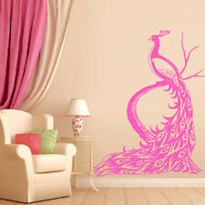 Wall Decal Sticker Vinyl Decor Peacock Bird Beauty Tail Feather Bedroom M923