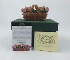Longaberger Harmony Kingdom May Series Rose Basket Figurine NIB Rare