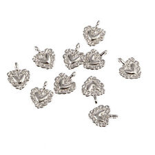 Heart Tibetan Silver Bead charms Pendants fit bracelet 10pcs 16*13mm