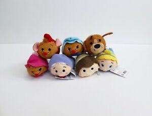 Lot of 7 Disney Mini tsum tsum Cinderella Characters Plush 3.5""