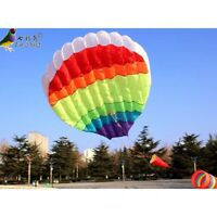 Outdoor Fun Sports Hot Air Balloon Power Kite New Good Flying free shipping
