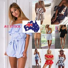 AU SHIP Women Celeb HMini Dress Jumpsuit Playsuit Holiday Summer Beach Sundress