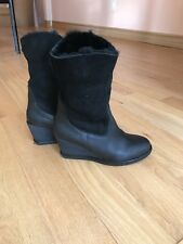 JOYKS Black Fur Boots Women's Size 7