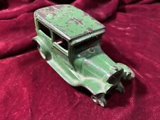Antique Toy Car: 5� Vintage Cast Iron 1928 Arcade Model A Ford Tudor Sedan Green