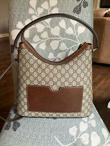 Gucci Linea A Supreme GG Coated Canvas Hobo Bag