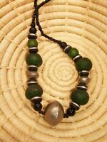 African Recycled Trade Bead Necklace new Africa ethnic tribal jngn5