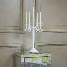 Wedding White Shabby Chic French Candle Holder Taper Candelabra Centerpiece
