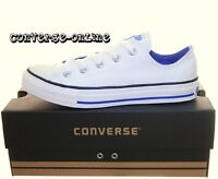 KIDS Boy Girl CONVERSE All Star® CHUCKS WHITE BLUE Lo Trainers Shoe 33 UK SIZE 1