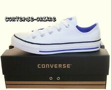 KIDS Boy Girl CONVERSE All Star® CHUCKS WHITE BLUE Lo Trainers Shoe 33 UK SIZE 1