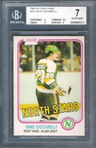 DINO CICCARELLI 1981-82 O-Pee-Chee Rc #161 BGS Minnesota North Stars