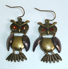 Animals Gold Earrings Vintage Costume Jewellery