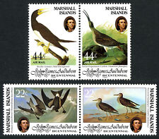 Marshall Islands 63-64a,C1-C2a pairs, MNH. John Audubon's birds, 1985