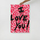 Mr Brainwash Picture Print I Lover you Fragile Modern Pop Art Poster For Wall