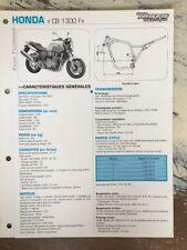 Honda CB1300F SC54B 2003 CB 1300 F CBF 1300 Fiche technique moto RMT ETAI