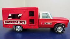 Vintage NYLINT TOY Emergency AMBULANCE Truck 1970's Pressed Steel Red Metal
