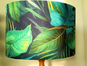 Tropical  leaves nay green teal lampshade exotic  40 cm 45 cm  50 cm