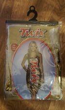 TWIX Candy Bar Branded Tank Dress Shiny Adult Women's Halloween Funny Costume