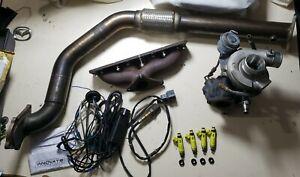 Mx5 Miata Eunos TD04 Turbo Manifold Downpipe Turbocharger Injectors Wideband Kit
