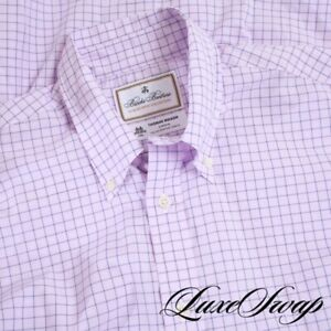 NWT #1 MENS $168 Brooks Brothers Made in USA Th. Mason Luxury Pink Grid Shirt M