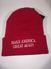 Patriotic Red Hat Beanie Roll Up One Size Fits All