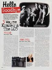 MC5 Wayne Kramer 'Mojo' Interview Clipping