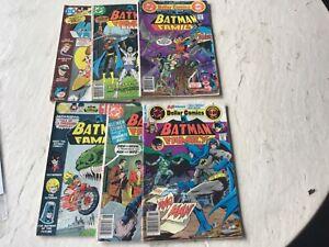 Lot of six bronze age Bat Man Family comics