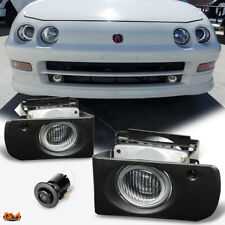 For 94-97 Acura Integra Dc/Dc2 Jdm Race Clear Lens Fog Light/Lamp W/Switch+Wire (Fits: Acura Integra)
