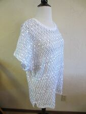 Chico's Women's Shimmer Paillette Rilee Pullover Sweater Size M Chico's size 2