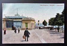 Cartolina viaggiata animata 1912 BAVENO Imbarcadero LAGO MAGGIORE