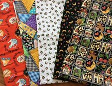 Mary Engelbreit Fabric Lot Cranston Patchwork Home Teapots Cherries Quilting