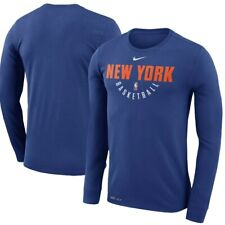 Nike NBA New York Knicks Blue Practice Long Sleeve Performance T-Shirt size M