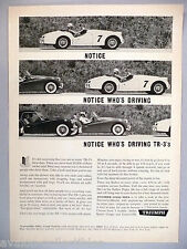 Triumph TR-3 PRINT AD - 1960
