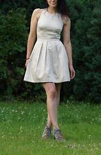 dcc4b61e02 Karen Millen Beige Cream Open Back Cotton Dress UK Size 8 BNWT
