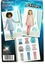 SIMPLICITY PATTERN 0298 CHILD'S DRESS WITH KNIT BODICE & LEGGINGS SIZE A (3-8)