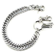 """Basic Strong Leash Heavy Biker Trucker Key Jean Wallet Chain (14"""") Silver CS1114"""