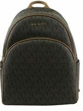 Michael Kors Signature PVC Abbey Large Backpack in Brown/acorn 35S7GAYB3B