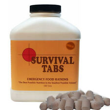 Chocolate 15 day Supply-Survival Tabs Emergency Food Rations Nutrition in Volume