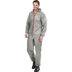 Overall Maleranzug Einweganzug Schutzbekleidung Schutzanzug Grau Gr. M - XXXL