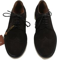 LORO PIANA CHOCOLATE TOWNEY WALK MEN'S SUEDE SHOES -MADE IN ITALY $1,325 Retail