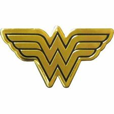 WONDER WOMAN LOGO - METAL STICKER 4.75 x 2.5 - BRAND NEW - CAR DECAL 0143