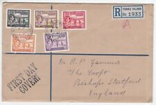 TURKS IS GVI 1938 REGISTERED FDC cover to UK
