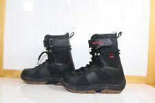 Burton Kids Junior Jr. Black Red Snowboard Boots, size kids 5 - Lot RB11