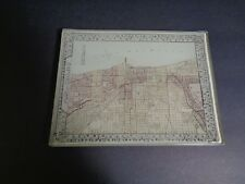 "Vintage Plan of Chicago (MAP) Glass Trinket Dish 5"" x 6-3/4"" LAKE MICHIGAN"